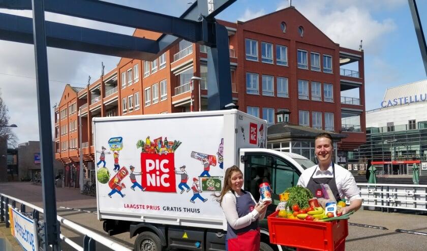 Picnic bezorgt vandaag in Alphen eerste boodschappen. Foto: Picnic