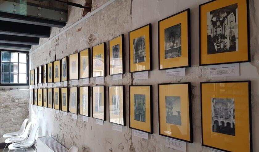 Een deel van de foto-expositie . (Foto: Nationaal Orgelmuseum)