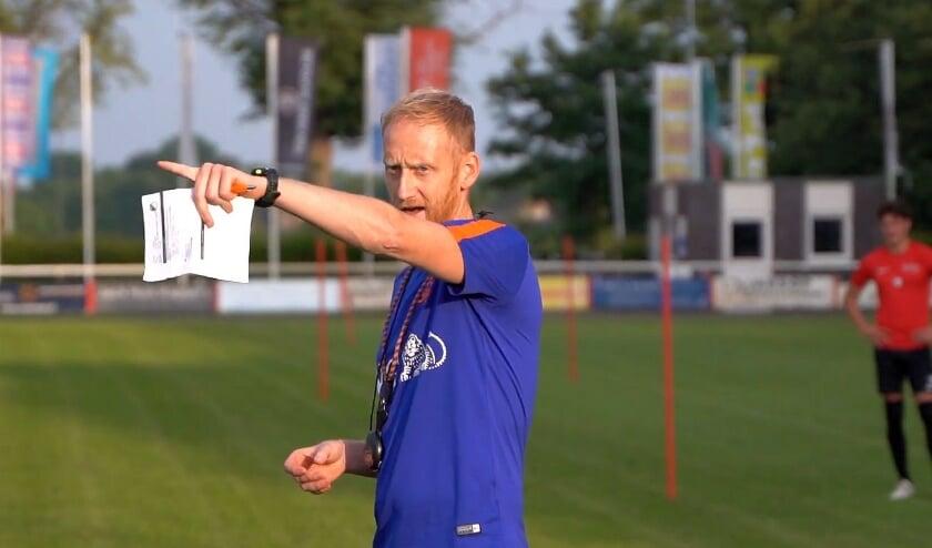 Trainer Stéven Verheijen van Sportclub Silvolde.