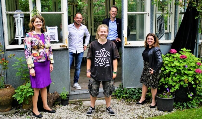 Hubertine Langemeijer, Sven Ruggenberg, Wille Vaskimo, Robin Paalvast en initiatiefnemer Daniëlla van Bergen. Foto: Robbert Roos