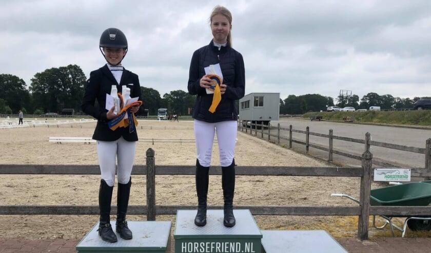 Verschillende leden van de Hertruiters hebben mooie resultaten behaald bij dressuurwedstrijden. (Eigen foto)