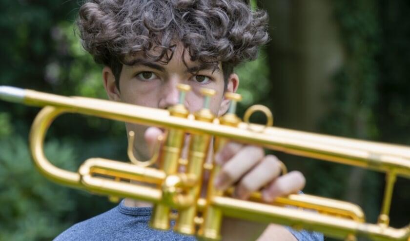 Trompettist Milan van Munster uit Epe geeft 5 september twee concerten bij Tot En Met in Heerde.