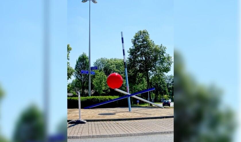 'Landmark' Bert Meinen op de rotonde Slangenbeek.