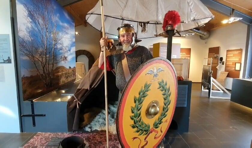 Zaterdag 1 augustus vertelt deze Romeinse soldaat vanaf 13.30 uur hoe een Romeins soldaat leeft.