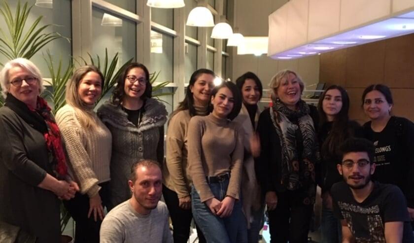 Deelnemers aan het Taalcafé.