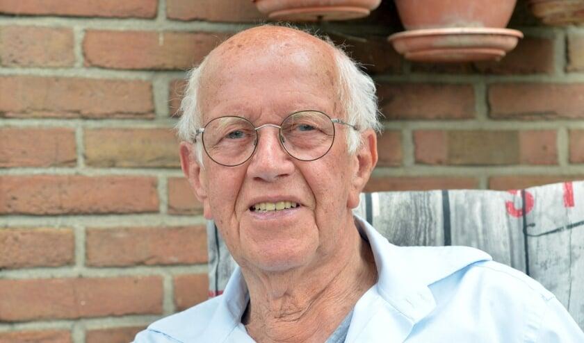Dirk Verheul was in de 50-er jaren de trombonist bij de boerenkapel 'Onze Bietenbouwers' in Montfoort (Foto: Paul van den Dungen)