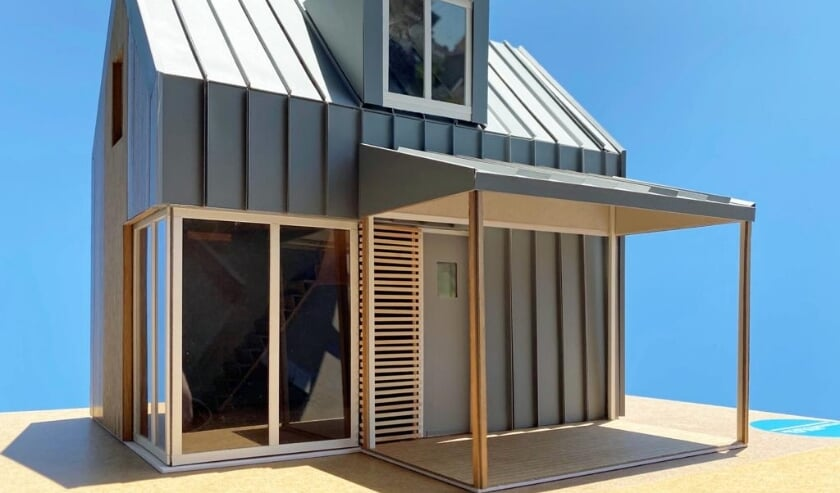 Ontwerp van een tiny house voor de Twijgenhof. Foto: Filip Mens