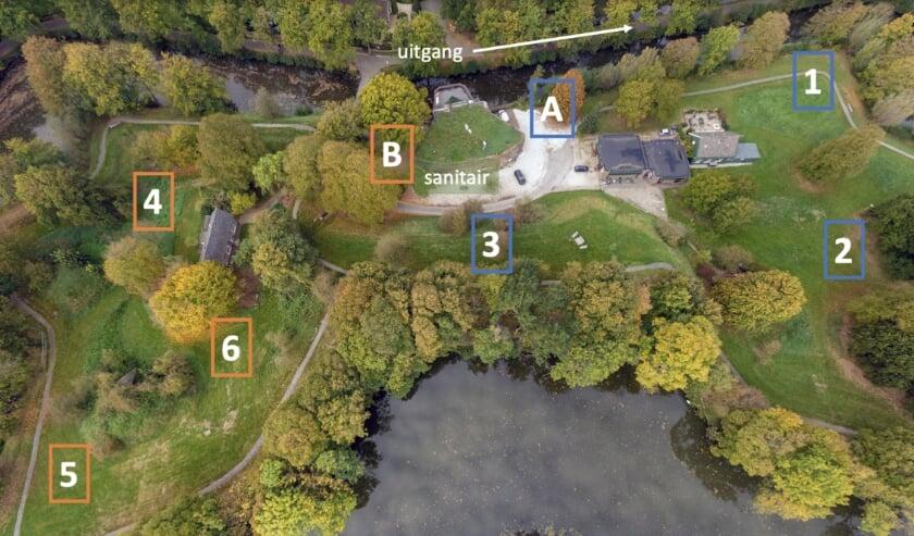 Het festivalterrein. Bron: Google Earth