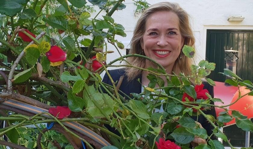 Barbara tussen de rozen