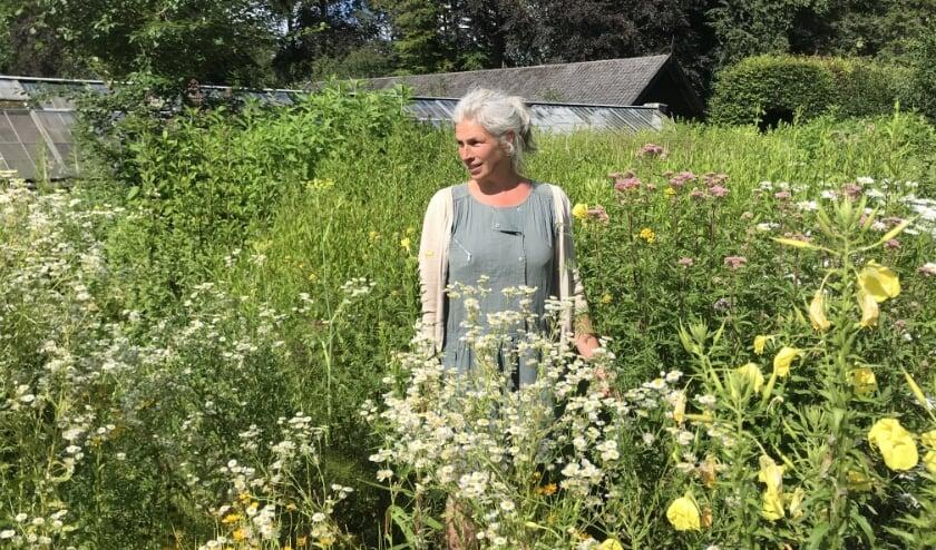 Birgitte Goris in haar veldatelier van Bloem in Beeld - www.bloeminbeeld.com