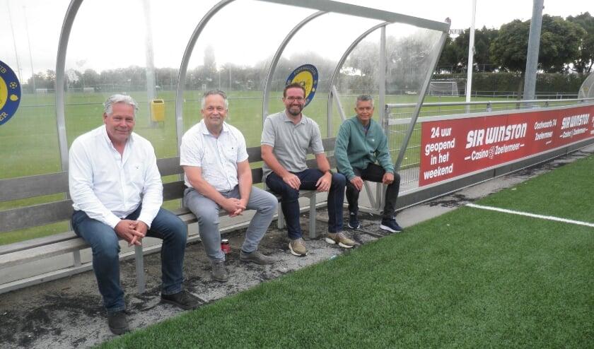 Vlnr.: Peter Lieffering, Jacob de Boer, Dennis Scholten en Peter Nauman. Foto Kees van Rongen