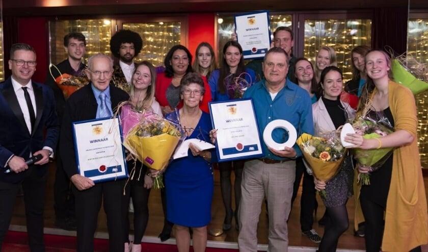 De winnaars van de vrijwilligersprijs in 2019
