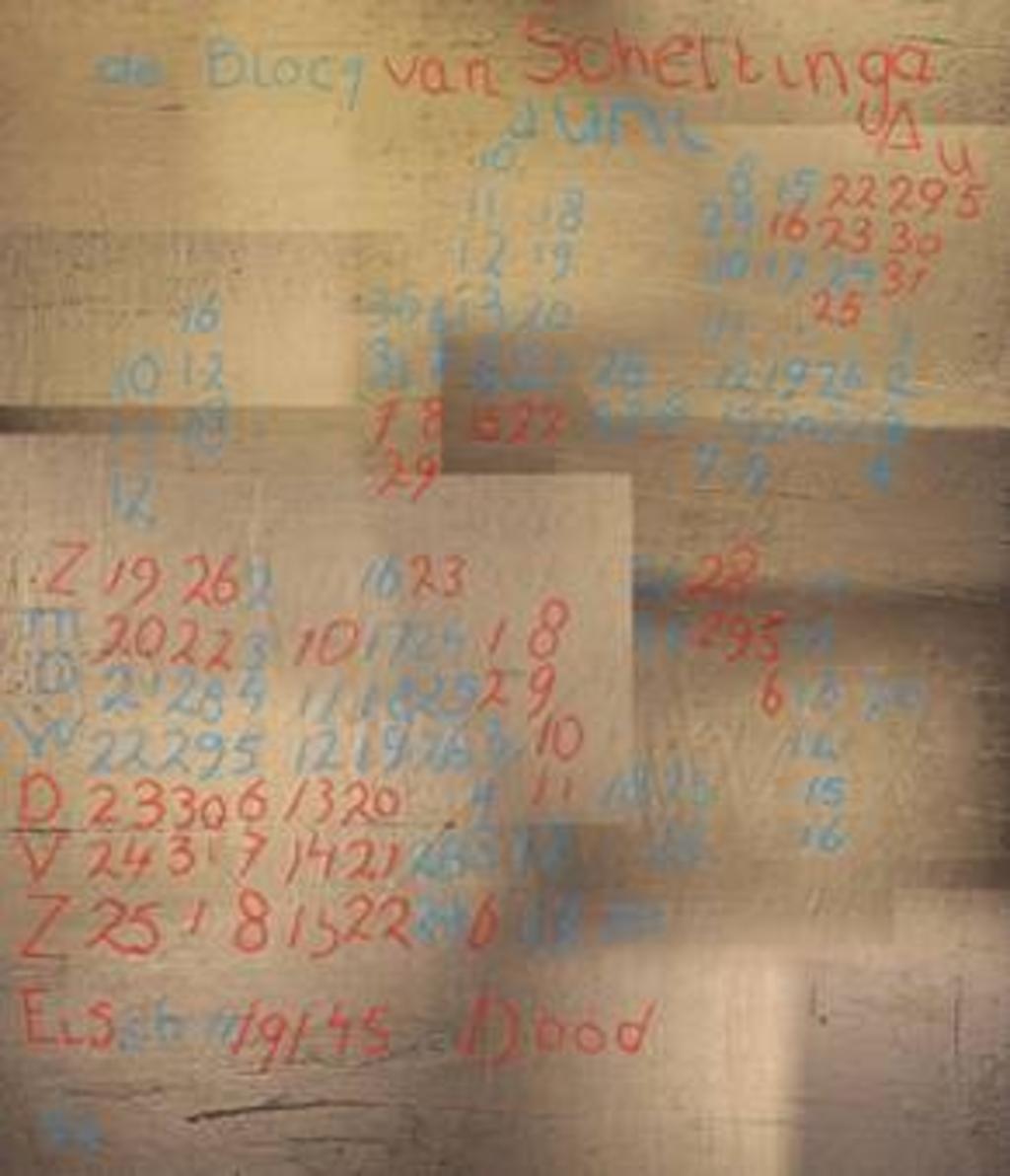 De inscripties die door de verschillende technieken aan het licht kwamen. Foto:  © DPG Media