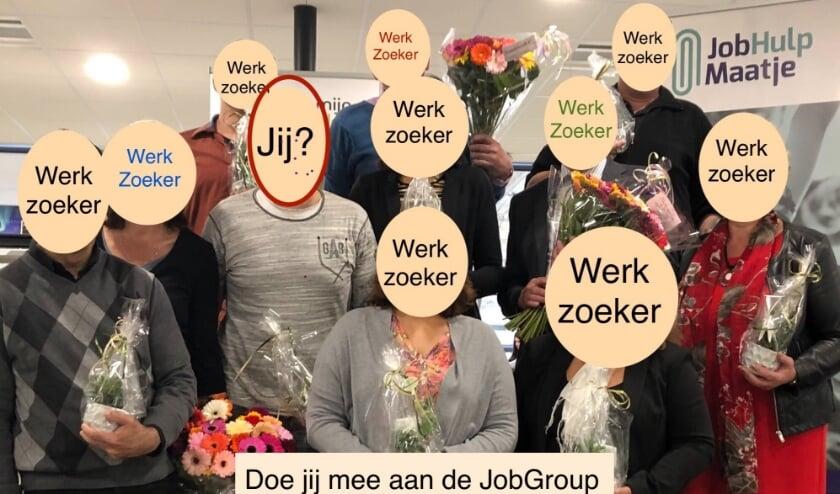 een eerdere lichting afgezwaaide JobGroup deelnemers