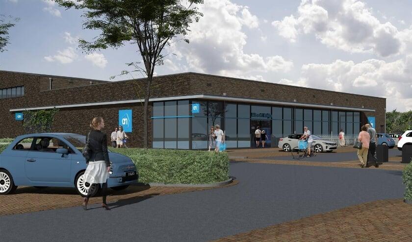 Impressie van de nieuwe Albert Heijn in winkelcentrum Meijhorst.