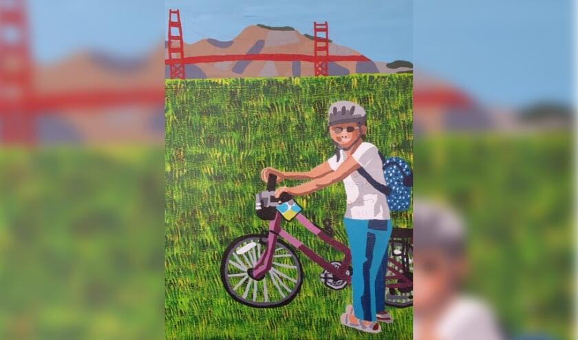 """Deel van kunstwerk: """"Golden Gate"""" van kunstenares Amy Feddes. Foto: M. Melgers"""