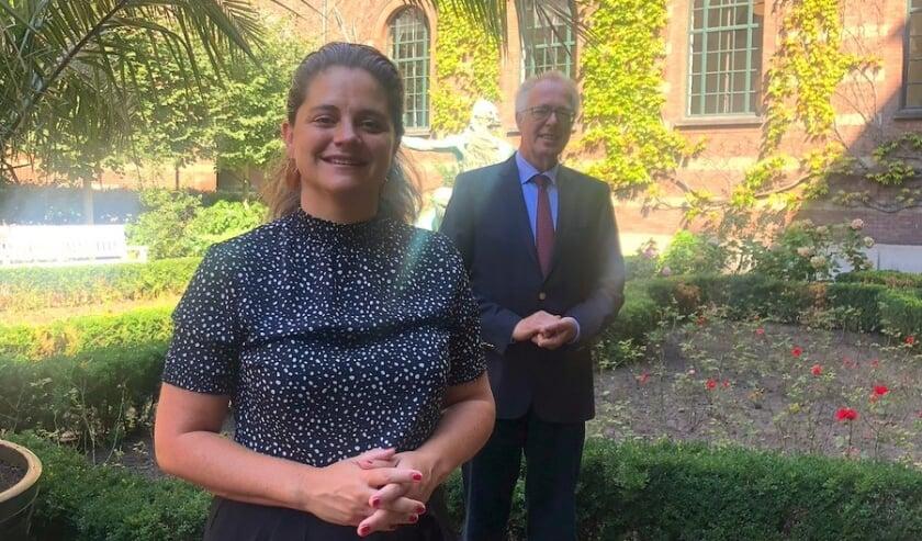 Wethouder Barbara Kathmann en Dirk Duizer,  Voorzitter Dutch Food Week.