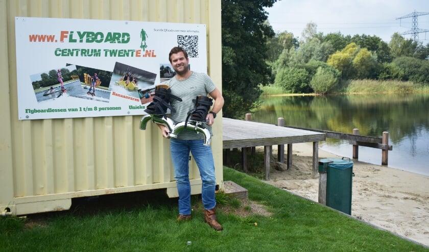 """<p>Robert Eleveld heeft met veel enthousiasme het Flyboard Centrum Twente overgenomen: """"Volgend jaar willen we mensen compleet verzorgde dag of feest aanbieden met natuurlijk een hoofdrol voor flyboarden.""""</p>"""