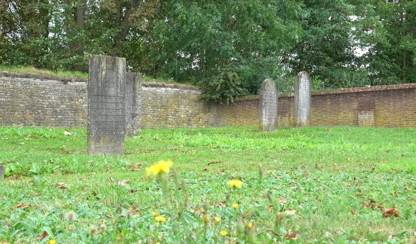 <p>In Zaltbommel liggen vier Joodse begraafplaatsen en een grafheuvel. Dit is de oude Joods begraafplaats aan de Oliemolen, achter de Nonnenstraat in Zaltbommel.</p>