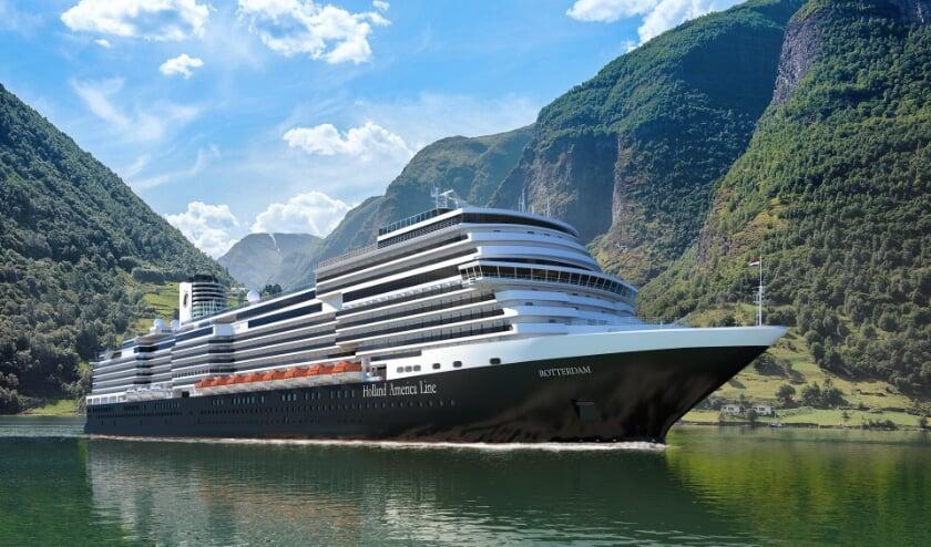 Holland America Line verandert de naam van het nieuwe schip Ryndam naar Rotterdam. (Foto: Holland America Line)