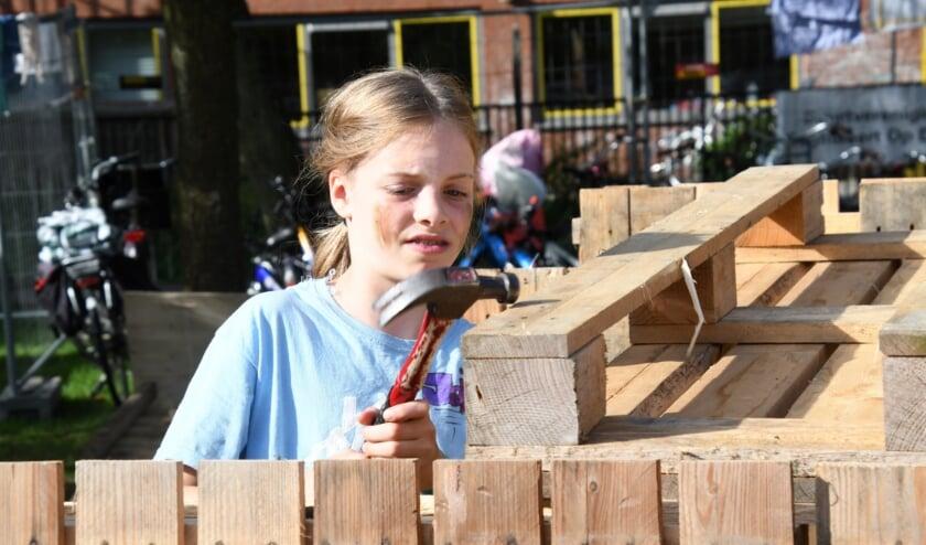 Hutten bouwen in Zoetermeer. Foto: Gerard van Warmerdam