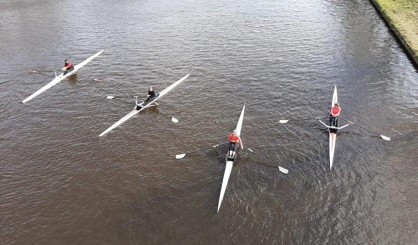 Skiffs, eenpersoons roeiboten