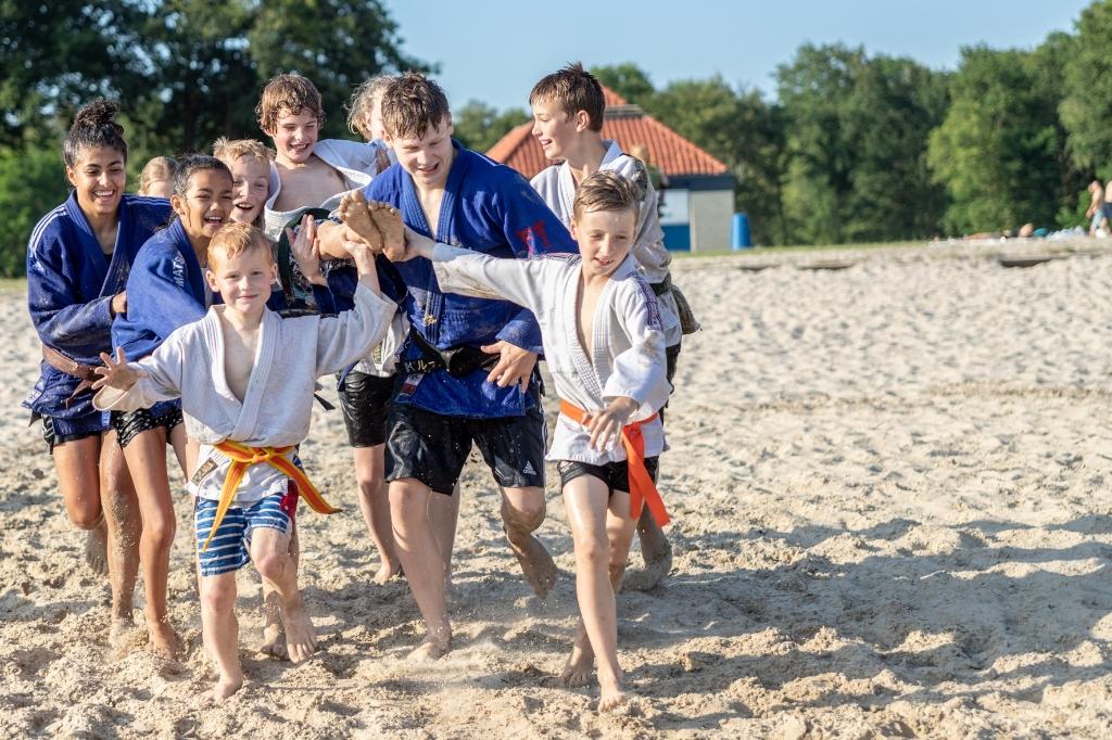 Spelletjes met een judotintje op Het Rutbeek Foto: Richard Snippe © DPG Media