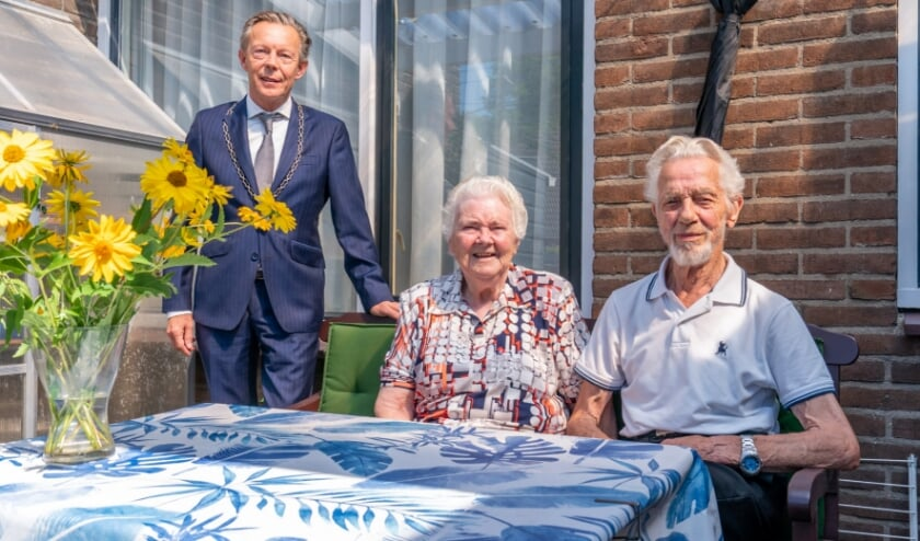 Loco-burgemeester Gert Jan van Noort op bezoek.