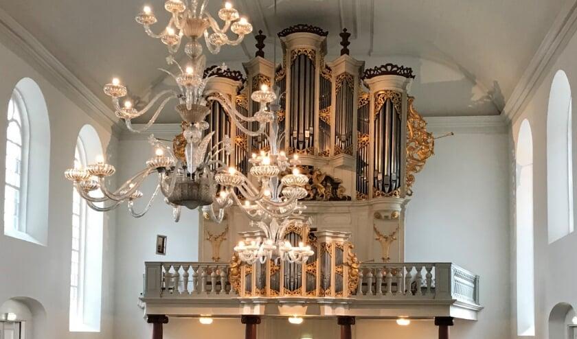 De Grote Kerk Almelo kan op de zaterdagmiddag bezichtigd worden. (eigen foto)