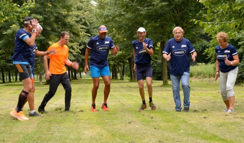 Een deel van de trainingsgroep. (Foto: Leny Jansen)