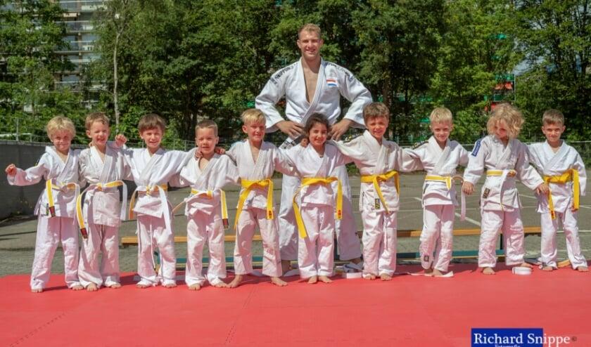 Judo-pupillen halen hun eerste band