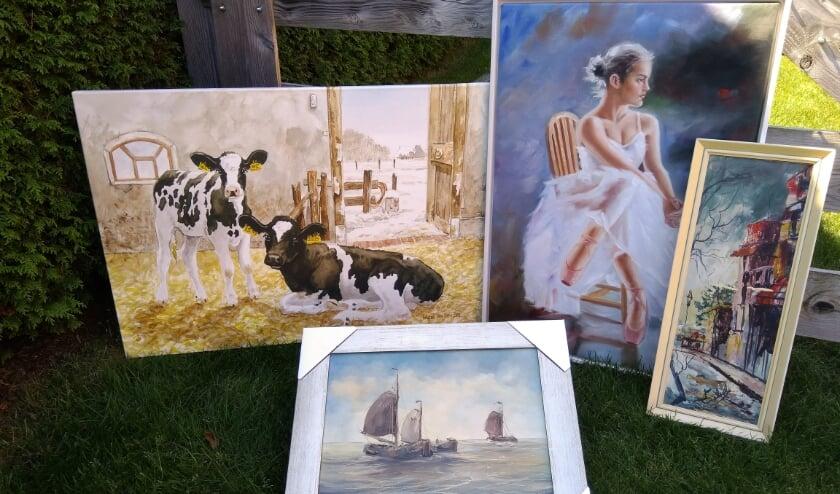 De schilderijen worden op 22 augustus uitgestald, zodat iedereen deze kan bekijken. (Eigen foto)