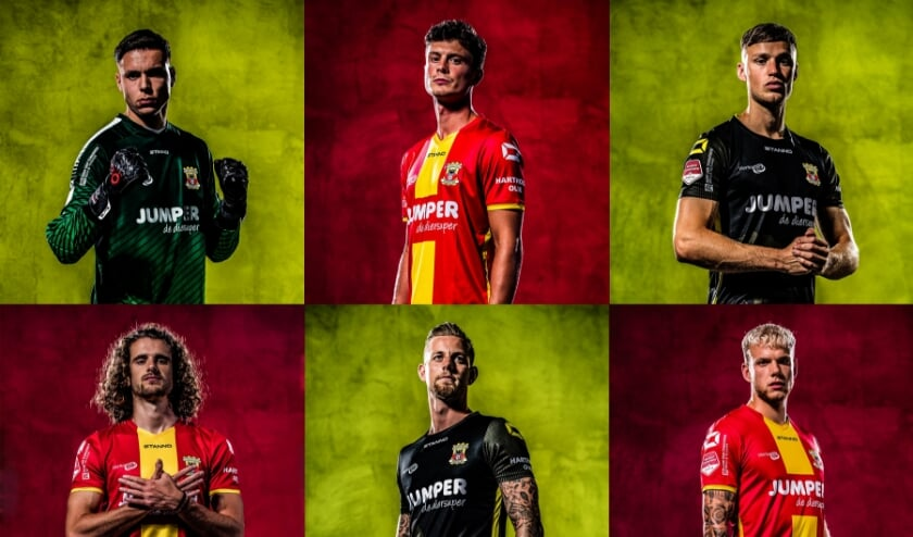 De nieuwe wedstrijdtenues van Go Ahead Eagles. (beeldbewerking  Brand Specials)