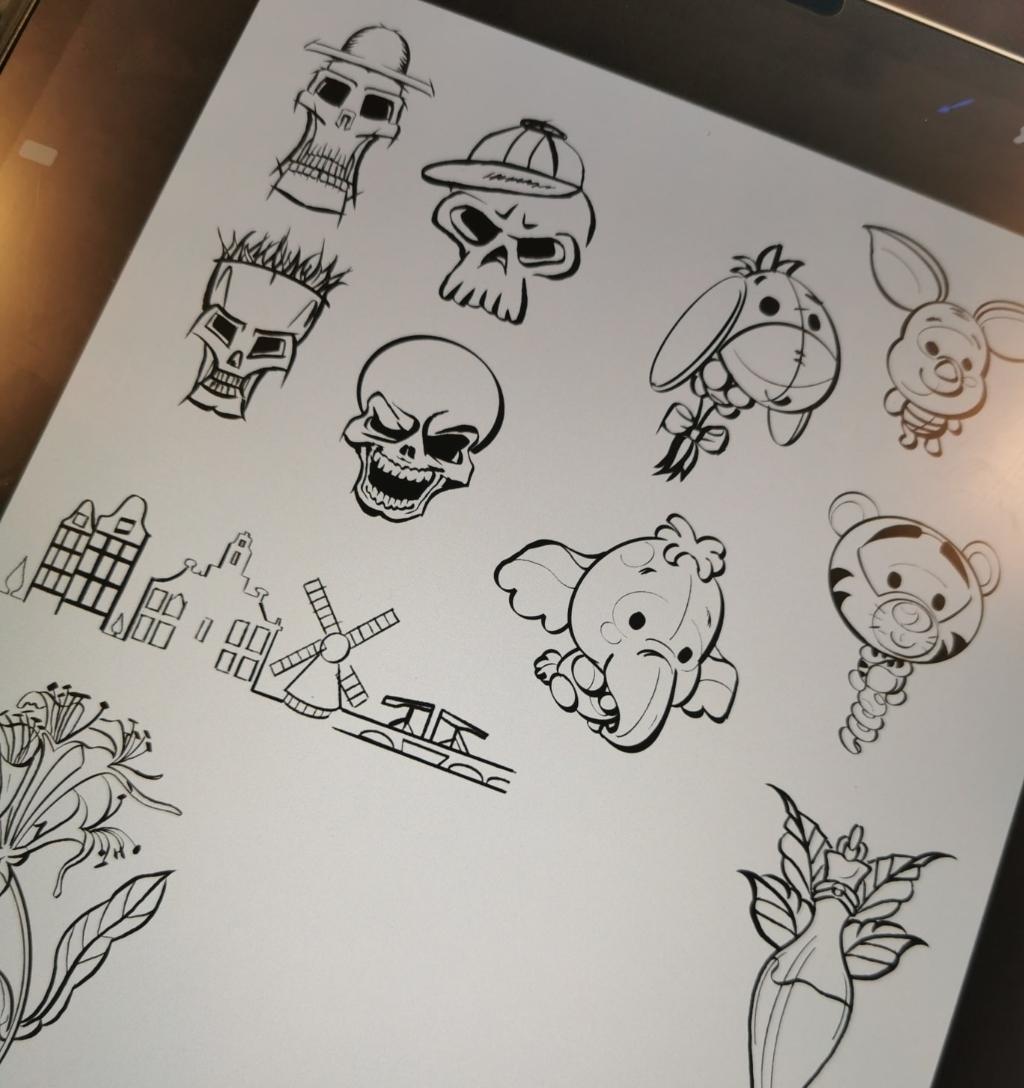 Enkele voorbeelden van tattoos. Foto:  © DPG Media