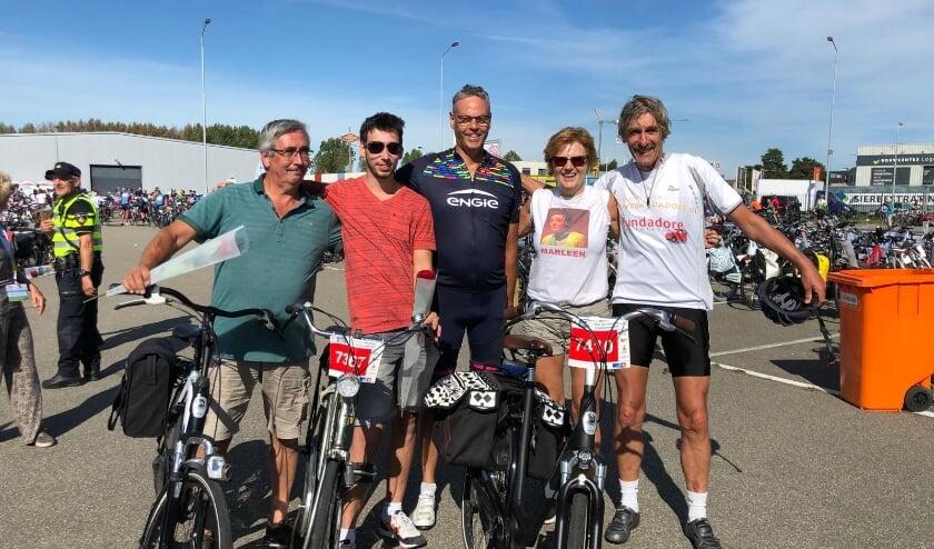 Richard,Bart, Marcel,Tineke en Martin na de prachtige Ride for the Roses 2019 in Zeeland (Goes)
