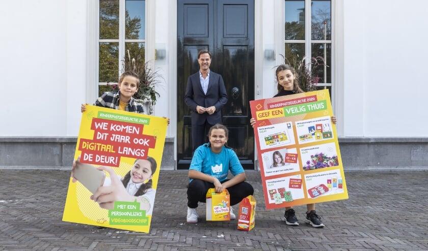 Premier Rutte gaf 22 september het startschot voor de 72ste Kinderpostzegelactie