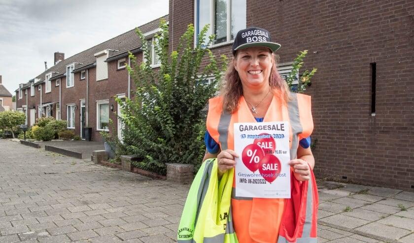 Mede Streetsale-organisator Saskia Brouwers is er klaar voor: 'Zondag gaat het los!' (foto: Theo van Etten)