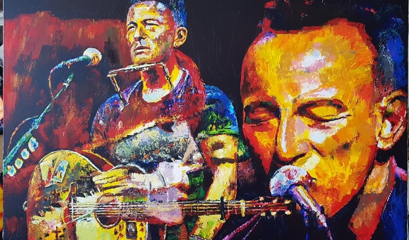 <p>Bruce Springsteen, schilderij van Willy Boetzkes.&nbsp;</p>