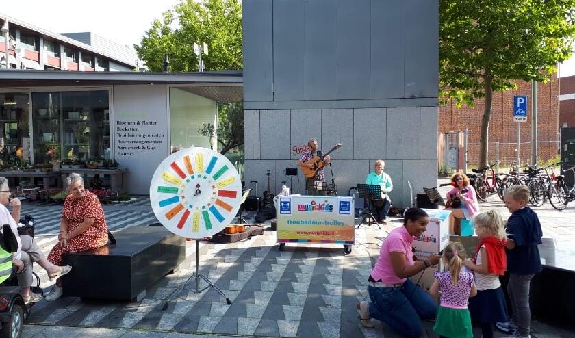 <p>Muziekids on tour op het Pieter Vreedeplein. Rad van avontuur met kinderliedjes en de muzikanten op het Pieter Vreedeplein. </p>