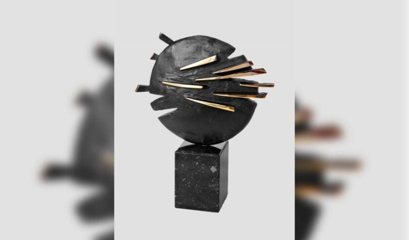 Bronzen beeld, titel: Kleine Maan