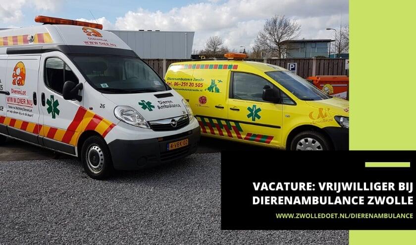 De Dierenambulance Zwolle zoekt een vrijwilliger die stressbestendig en creatief is.