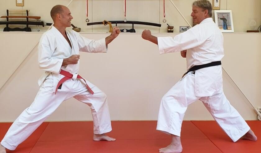 Hans Roos (links) en Wim Mallens.