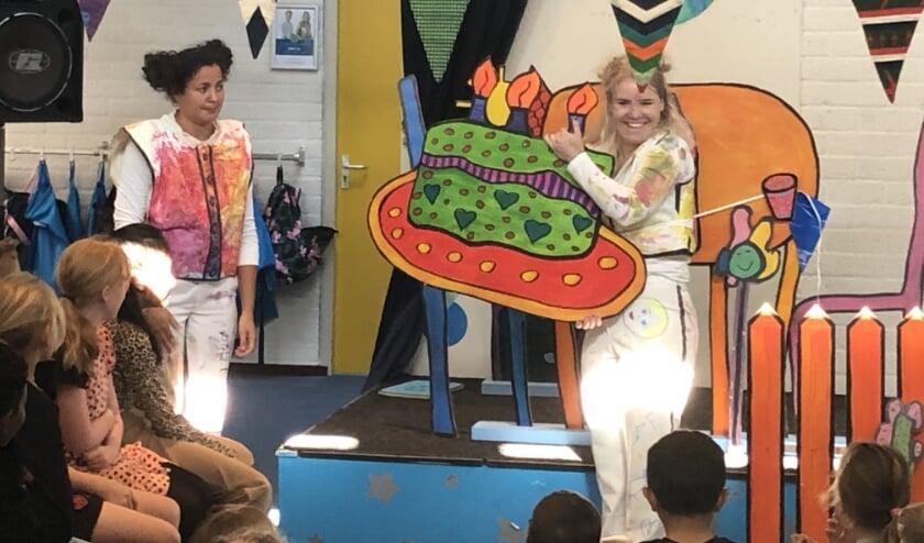 Voorstelling door Changing Stories op basisschool De Wiekslag.
