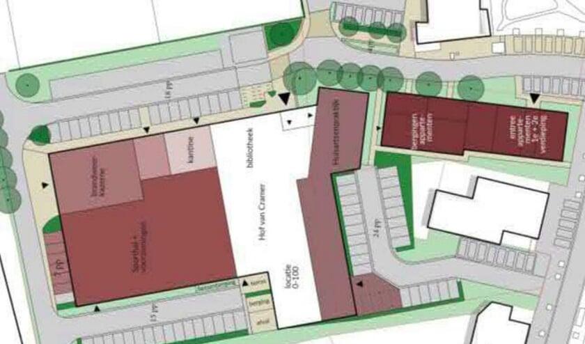 <p>De invulling van het gebied met een nieuw te bouwen sporthal. Er is ook een optie om de sporthal intact te laten, de keuze wordt aan gemeenteraad voorgelegd.&nbsp;</p>