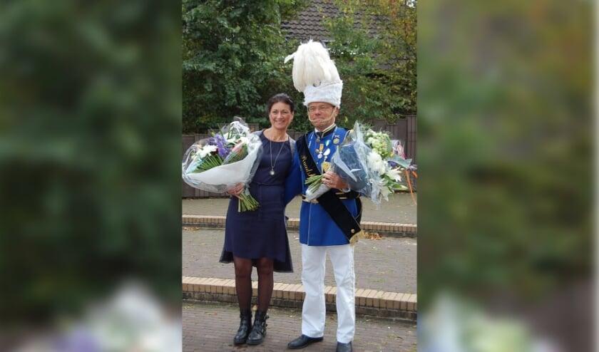<p>Wilfried van Aken met zijn vrouw.</p>