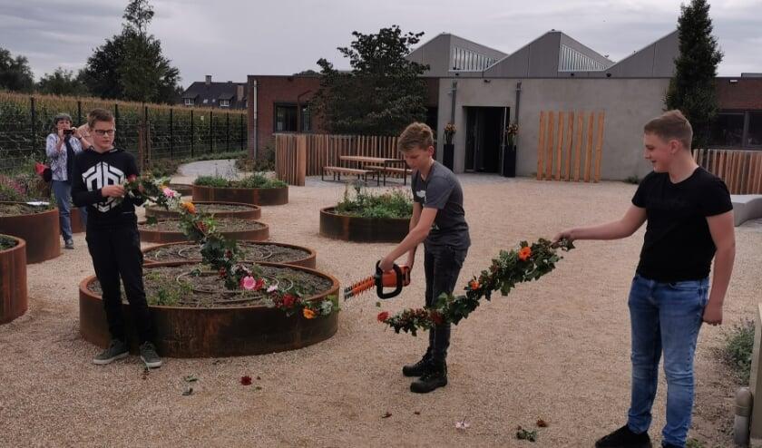 <p>De leerlingen openden het Groenpaviljoen zelf.</p>