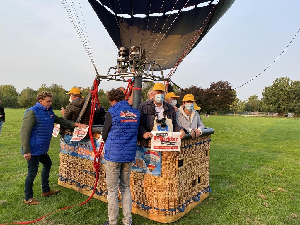 De ballon staat op punt van vertrekken. Foto: Joke Aalbers © DPG Media