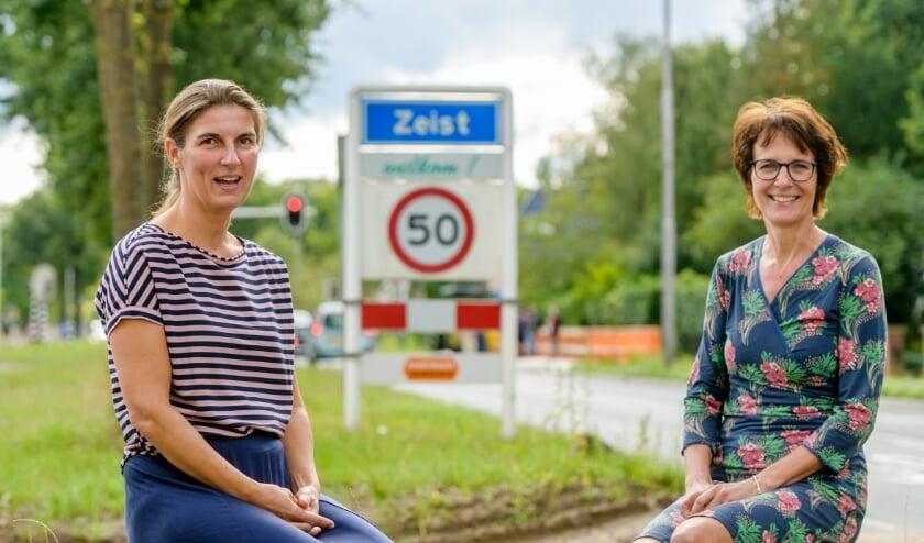 <p>Katherina Casse en Wilma de Groot van Samen voor Zeist (Foto Mel Boas)<br><br></p>