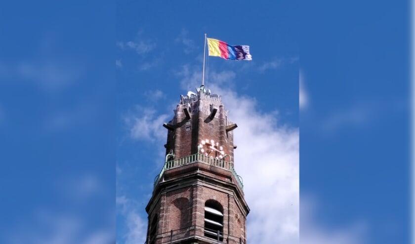 <p>De nieuwe vlag, die blijft wapperen tot 31 januari 2021, is onderdeel van de tentoonstelling in Museum IJsselstein. (Foto: MIJ)</p>