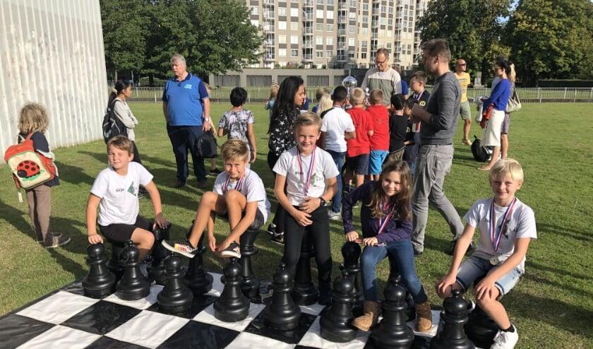 Schaakteam van SMB vorig jaar op NK Jeugdschaken